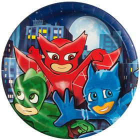 "Pajama Heroes 9"" Plate (8 Count)"