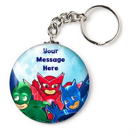 "Pajama Heroes Personalized 2.25"" Key Chain (Each)"