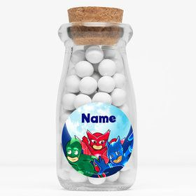 "Pajama Heroes Personalized 4"" Glass Milk Jars (Set of 12)"