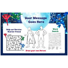 Pajama Heroes Personalized Activity Mat (Each)