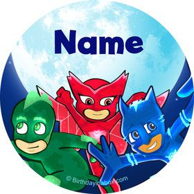 Pajama Heroes Personalized Mini Stickers (Sheet of 20)
