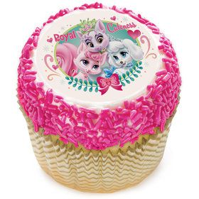 "Palace Pets Royal Cuteness 2"" Edible Cupcake Topper (12 Images)"