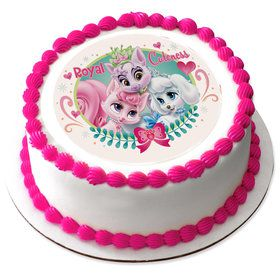 "Palace Pets Royal Cuteness 7.5"" Round Edible Cake Topper (Each)"
