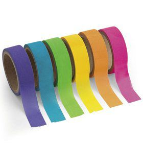 Paper Neon Washi Tape Set (6 Rolls)
