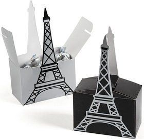 "Paris 5"" Eiffel Tower Favor Boxes (6 Pack)"