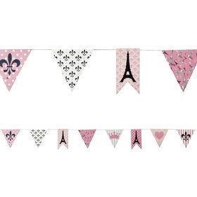 Paris Party 7ft. Paper Pennant Banner (Each)