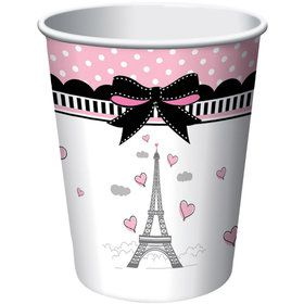 Paris Party 9oz Cups (8 Pack)