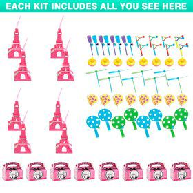 Paris Party Favor Kit (For 8 Guests)