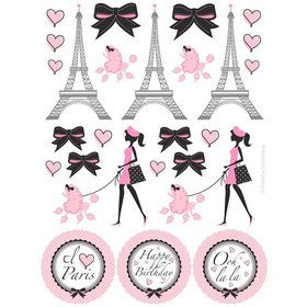Paris Party Sticker Favors (4 Sheets)