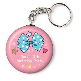 "Party Bows Personalized 2.25"" Key Chain (Each)"