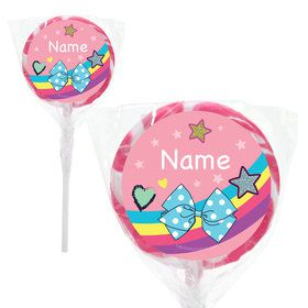 "Party Bows Personalized 2"" Lollipops (20 Pack)"