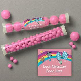 Party Bows Personalized Candy Tubes (12 Count)