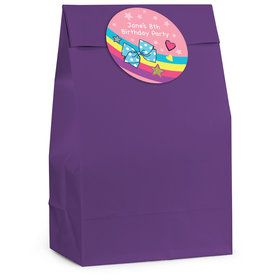Party Bows Personalized Favor Bag (12 Pack)