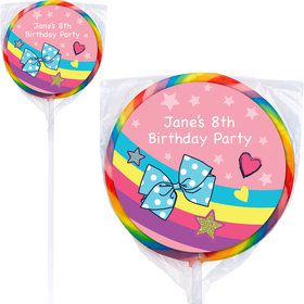 Party Bows Personalized Lollipops (12 Pack)