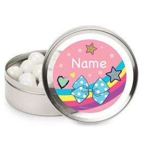 Party Bows Personalized Mint Tins (12 Pack)