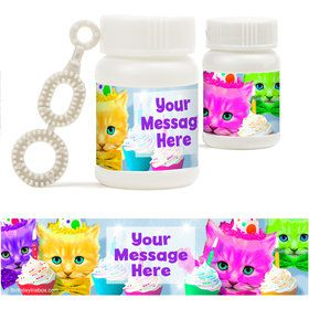 Party Cats Personalized Bubbles (18 Pack)