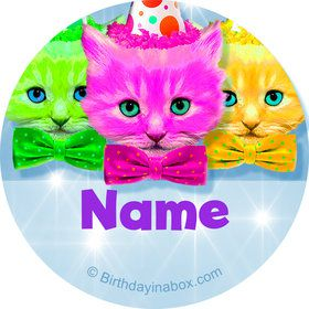 Party Cats Personalized Mini Stickers (Sheet of 20)