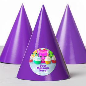 Party Cats Personalized Party Hats (8 Count)