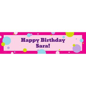 Party Girl Personalized Banner (Each)