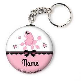 "Party in Paris Personalized 1"" Mini Key Chain (Each)"