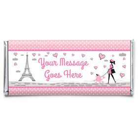 Party in Paris Personalized Candy Bar Wrapper (Each)