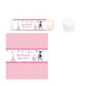 Party in Paris Personalized Lip Balm (12 Pack)