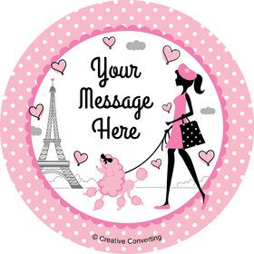 Party in Paris Personalized Stickers (Sheet of 12)