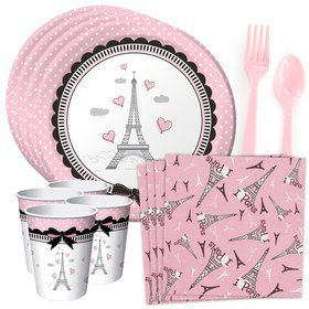 Party In Paris Standard Tableware Kit (Serves 8)
