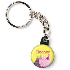 "Party Pig Personalized 1"" Mini Key Chain (Each)"