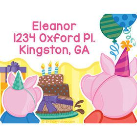 Party Pig Personalized Address Labels (Sheet of 15)