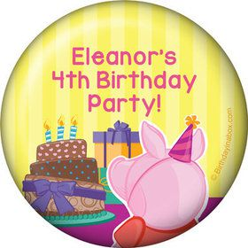 Party Pig Personalized Button (Each)