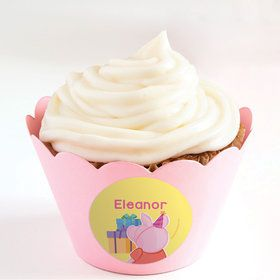 Party Pig Personalized Cupcake Wrappers (Set of 24)