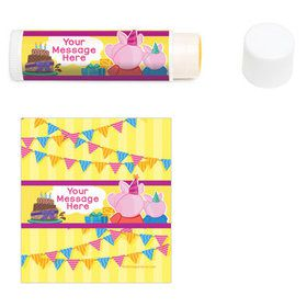 Party Pig Personalized Lip Balm (12 Pack)