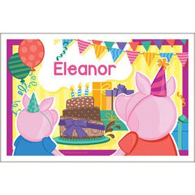 Party Pig Personalized Placemat (Each)