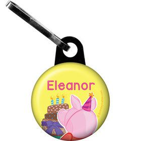 Party Pig Personalized Zipper Pull (Each)