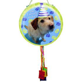 Party Pup Pull String Economy Pinata