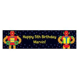 Party Robot Personalized Banner (each)
