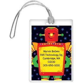 Party Robot Personalized Luggage Tag (each)