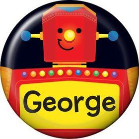 Party Robot Personalized Mini Button (each)