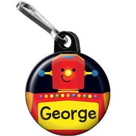 Party Robot Personalized Mini Zipper Pull (each)