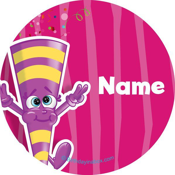 Partykin personalized mini stickers sheet of 24