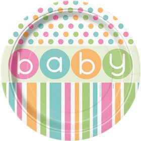 "Pastel Baby Shower 9"" Lunch Plates (8 Count)"