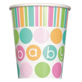 Pastel Baby Shower 9 oz Cups (8 Count)