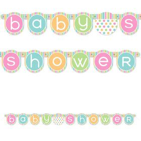 Pastel Baby Shower Jointed Banner