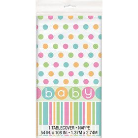 Pastel Baby Shower Plastic Table cover (Each)