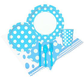 Pastel Blue and White Dots Party Pack