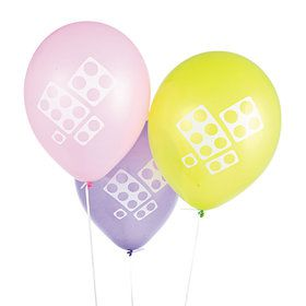 Pastel Color Block Latex Balloons (12 Count)