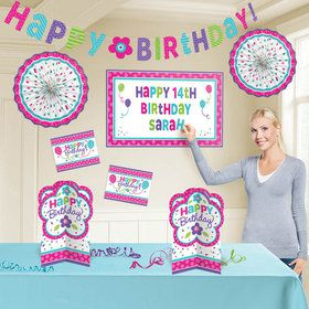 Pastel Customizable Birthday Room Decorating Kit