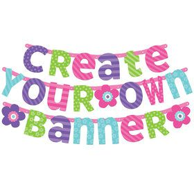 Pastel Customizable Letter Banner (Each)