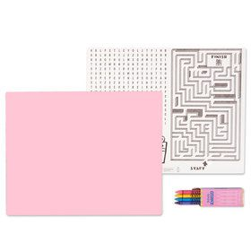 Pastel Pink Activity Placemat Kit for 4